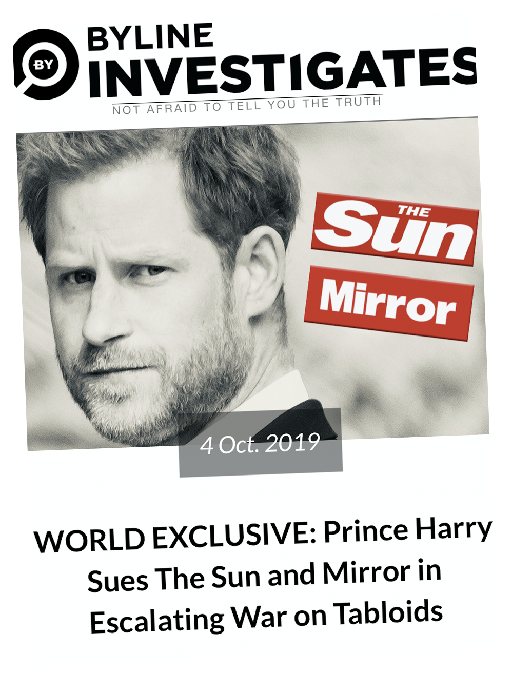 Exclusive: how  Byline Investigates  reported on Prince Harry's legal action