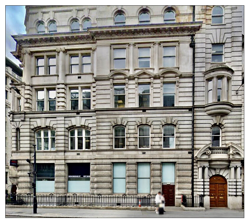 Shared address:  The NMA and the RFC are both based out of this building at New Bridge Street, in London's Blackfriars (c) Google