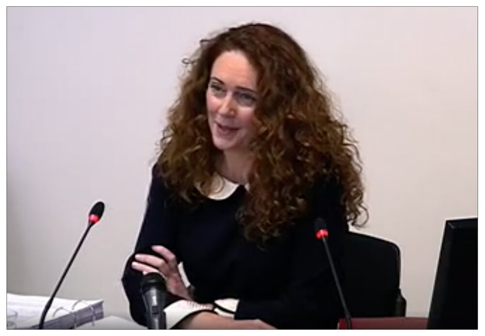 Sworn  evidence - Rebekah Brooks giving testimony at the Leveson Inquiry into Press ethics in 2012