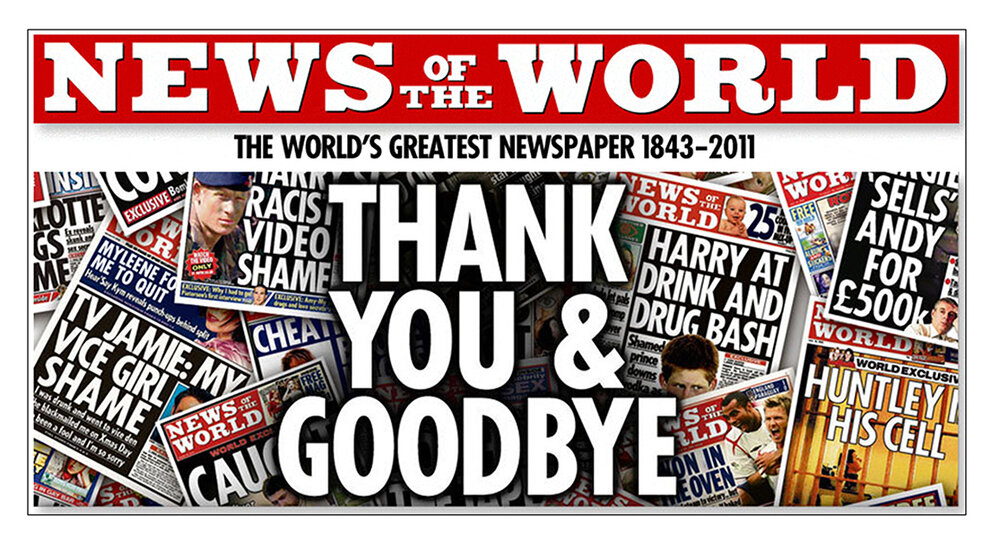 Hacked to death : The final edition of the  News of the World  rolled from the presses in 2011