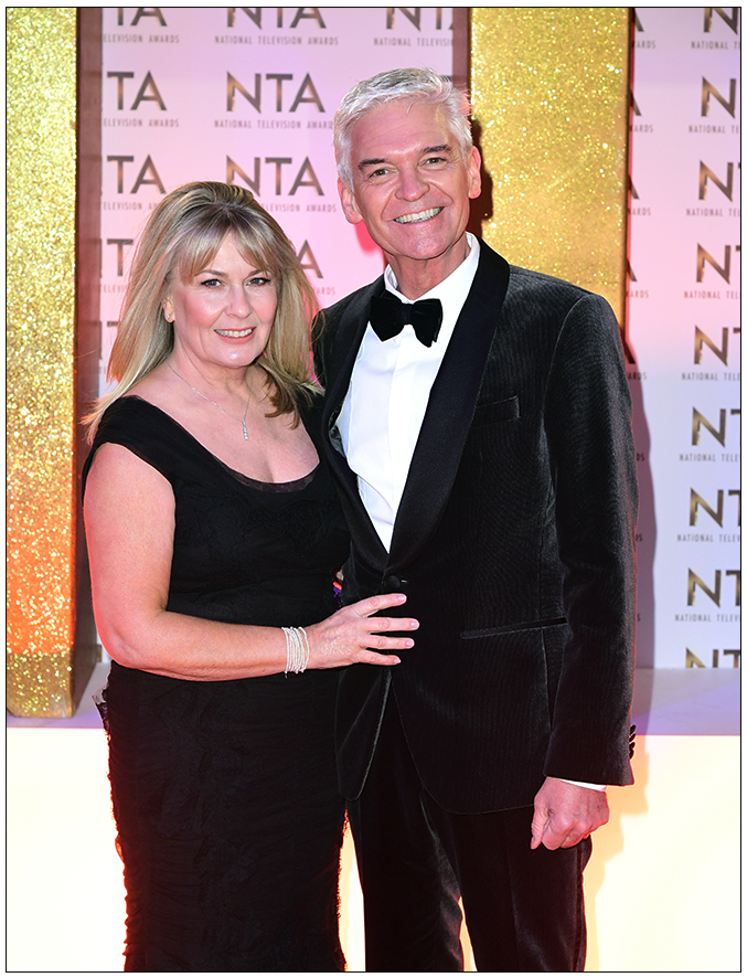 Supported:  Phillip Schofield and wife of 27 years Stephanie (c) PA