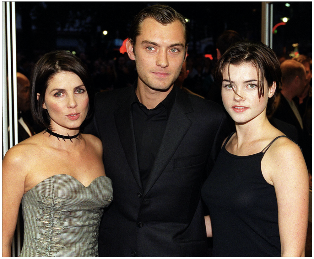 Targets: (l to r) Sadie Frost, Jude Law, Holly Davidson (c) PA