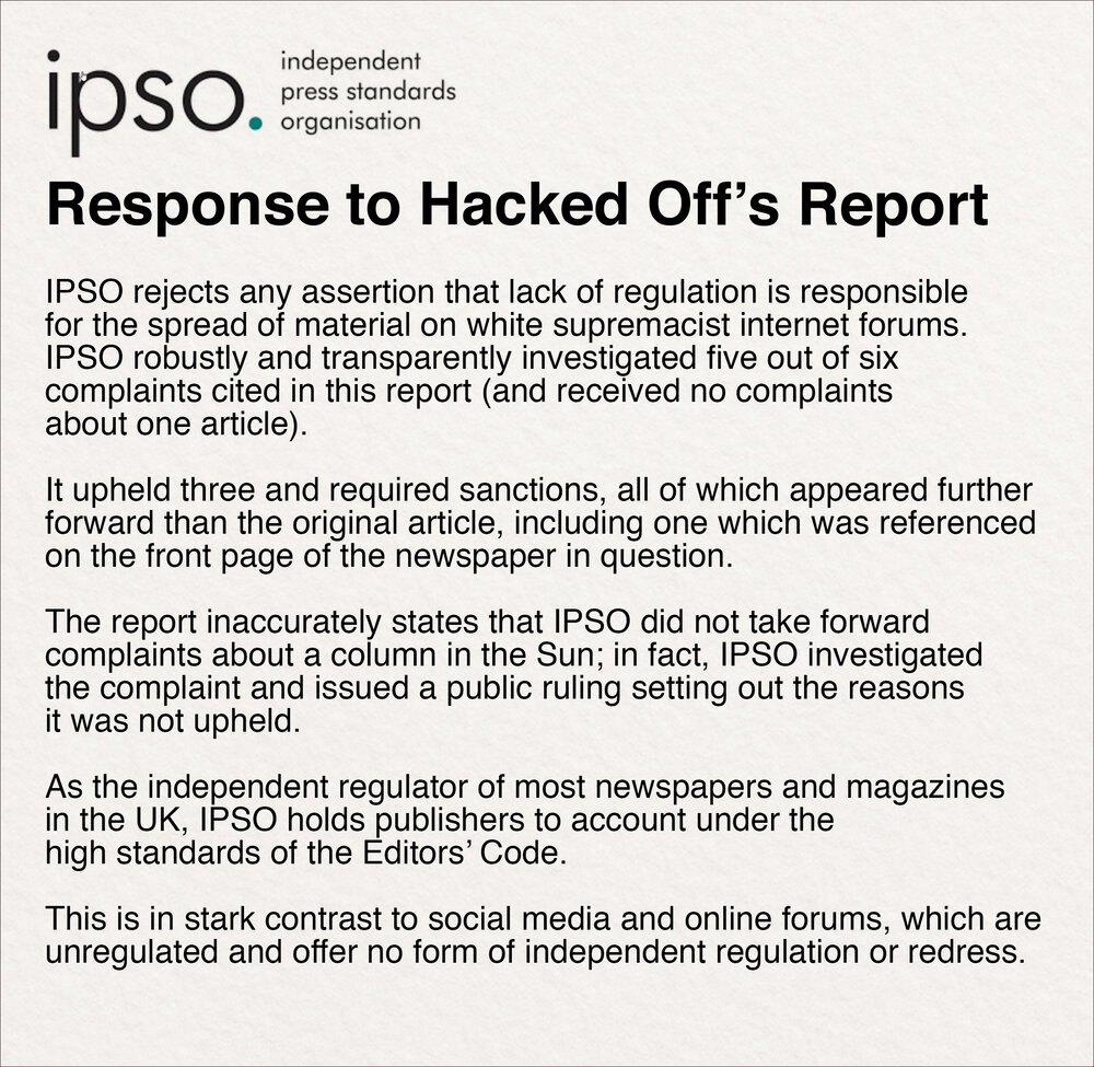 Read the full IPSO statement here.