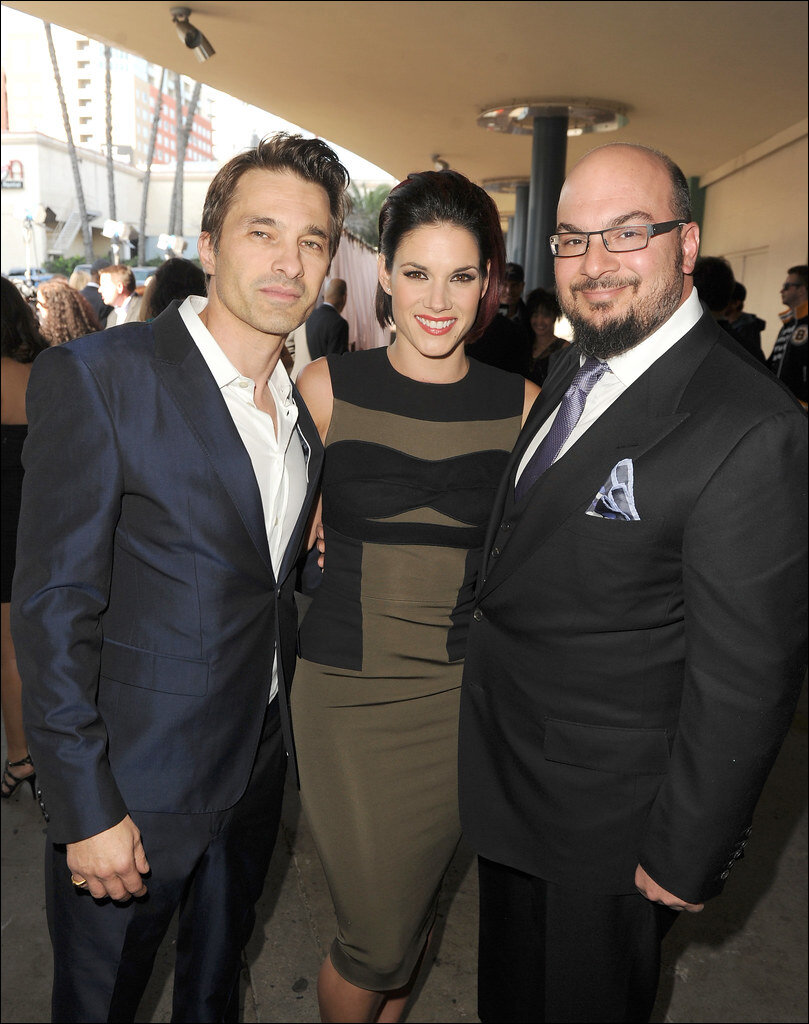 Olivier Martinez (L), with Missy Peregrym, and Anthony Zuiker (By Streamys, licensed under CC BY-NC 2.0)