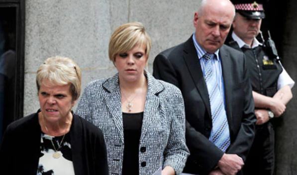 Intrusion: The Dowler family outside the Old Bailey. Credit: Paul Hackett / Reuters