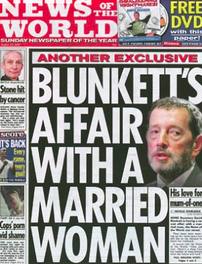 Hacked: Coulson says Hinton knew paper had illegally sourced story about his friend David Blunkett in 2004