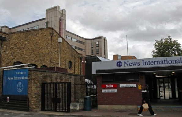 News International's former Wapping HQ, from where the hard-drive was taken (c) Reuters