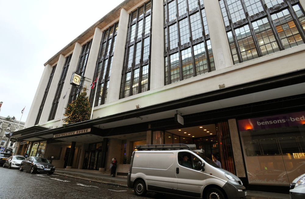 Imposing: Northcliffe House Miskiw says he met Anderson nearby