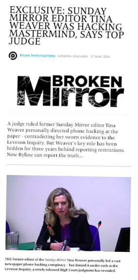 Byline Investigates exposed Weaver as phone hacking mastermind