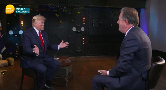 Donald Trump interviewed this week by Piers Morgan for ITV.