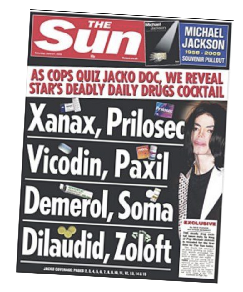 Medical: The Sun's coverage of Michael Jackson's death