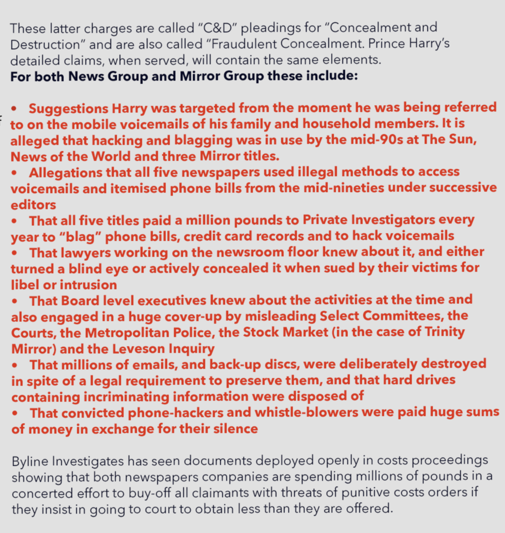 Why is Prince Harry suing? The concealment and destruction cases against News UK and Mirror Group explained.