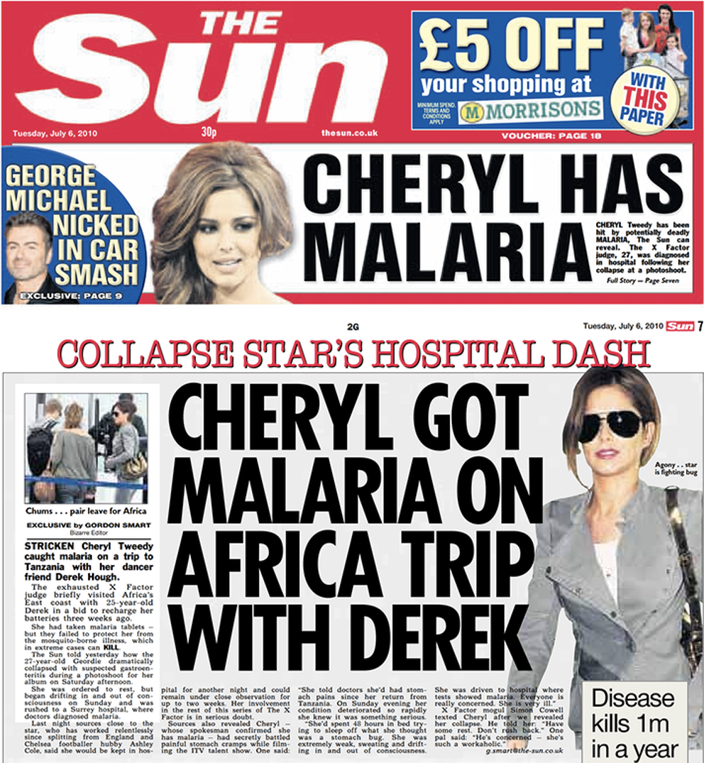 Medical: How  The Sun  revealed details of Ms Tweedy's hospital care, while at the same time its sister title the  News of the World  is alleged to have been hacking her phone (c) NGN