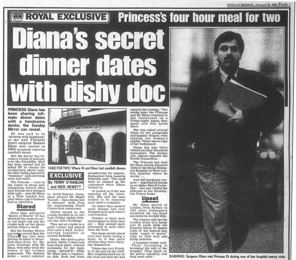 Suspect: the  Sunday Mirror's  article referred to the Princess's phone calls with Mr Khan