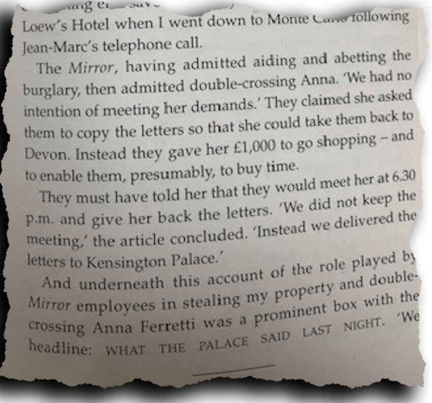 Double-cross: extract from 'Moving On'