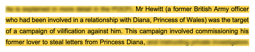 Campaign: court document alleges the  Mirror  persistently target James Hewitt