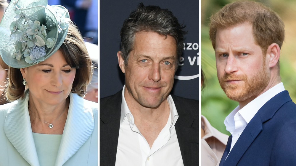 Targets? (l-r) Carole Middleton, Hugh Grant, and Prince Harry (c) PA