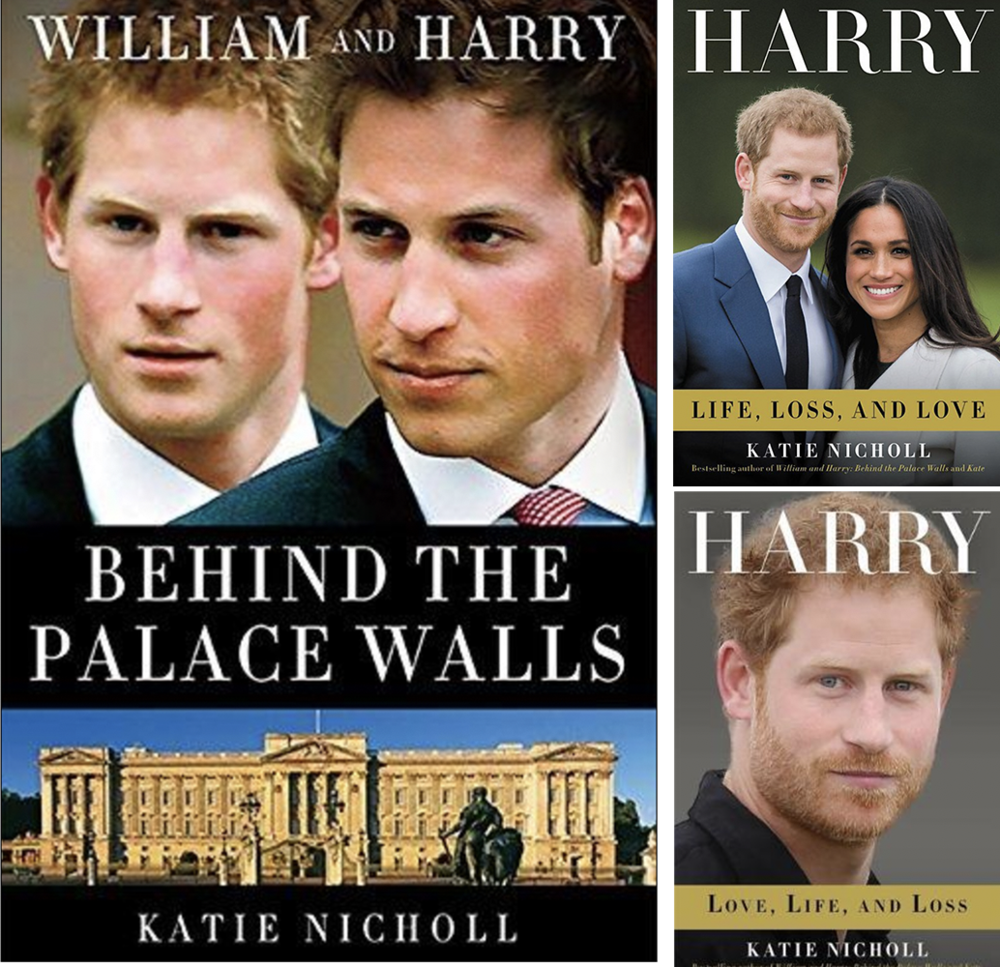 Royal watcher: some of Katie Nicholl's books about Princes William and Harry and their private lives