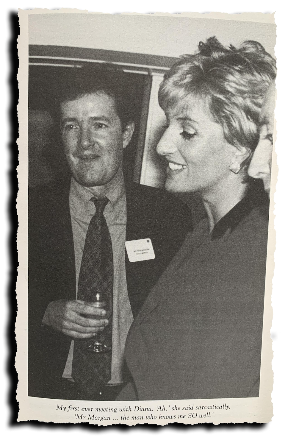 Cultivated: Piers Morgan wrote about his professional relationship with Diana, Princess of Wales in his 2005 book,  The Insider