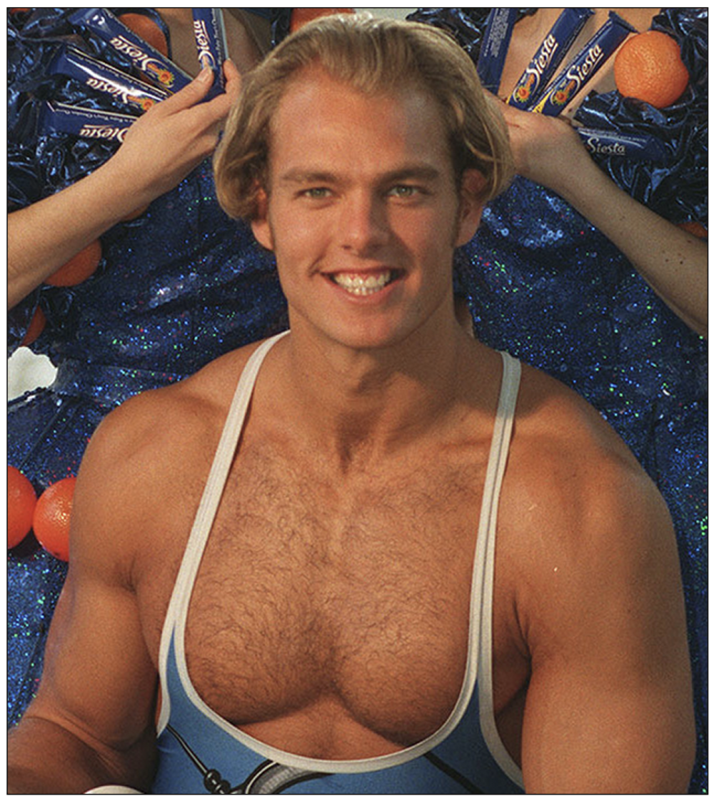 Crossley: James Crossley performed as 'Hunter' in Gladiators. Katie Nicholl bought his private phone number from a PI (c) PA