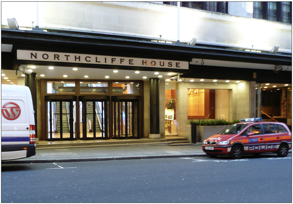Headquarters: General view of the  Daily Mail  and  Mail on Sunday  offices at Northcliffe House, Derry Street, London, in 2008. (c) Wikimedia Commons/ Alex Muller
