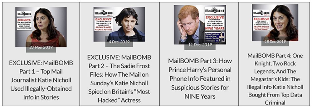 Mail BOMBED: How we exposed Ms Nicholl's links to criminal newsgathering