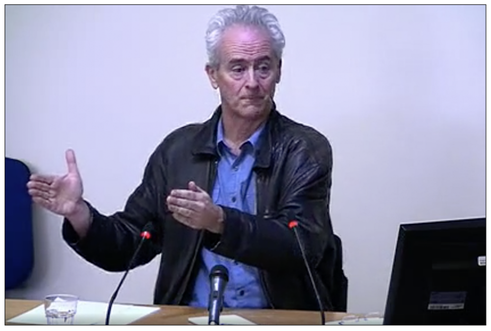 Exposing whoppers: investigative journalist Nick Davies giving evidence to the Leveson Inquiry in February 2012