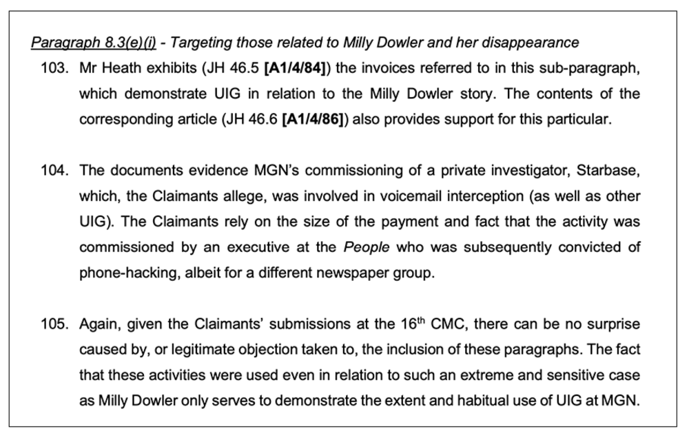 Detailed: Skeleton argument describes documentary evidence in the case.