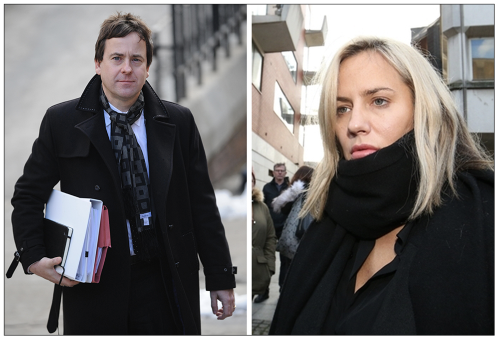 Inquiry: Dominic Mohan leaving the first part of the Leveson Inquiry into Press conduct in 2012, and Caroline Flack, in whose death an inquest is due to open tomorrow (February 19) (c) PA