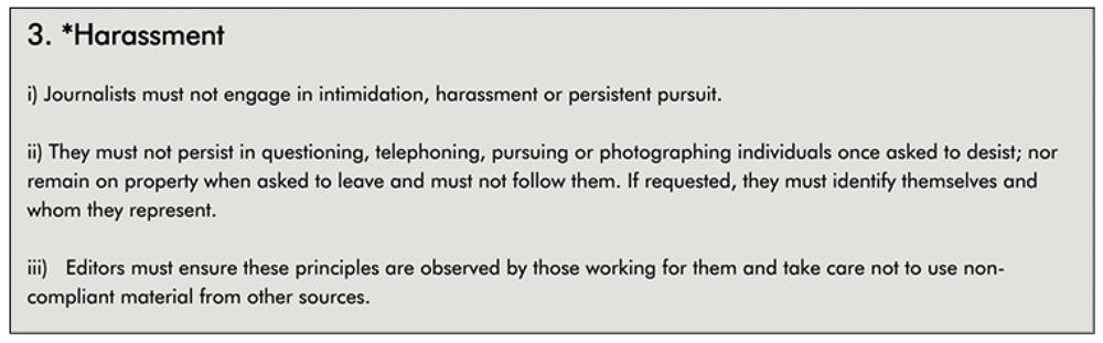 IPSO  Editors' Code rule 3