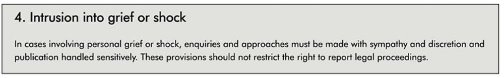 IPSO  Editors' Code rule 4