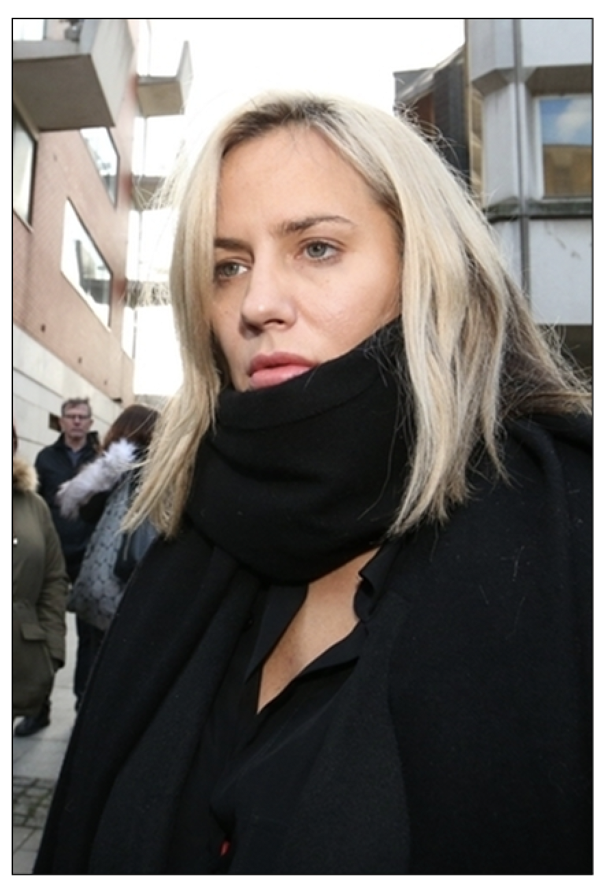 Cornered?  Caroline Flack pictured two days before Christmas 2019, leaving Highbury Corner Magistrates' Court, where she pleaded not guilty to assaulting boyfriend Lewis Burton (c) PA