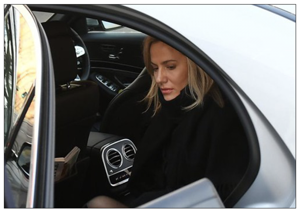 Hounded : Caroline Flack hit out at tabloid news culture in a posthumously-published Instagram, post. She is pictured here arriving at Highbury Corner Magistrates' Court in London on December 23, where she pleaded not guilty to a charge of assault on partner Lewis Burton (c) Creative Commons