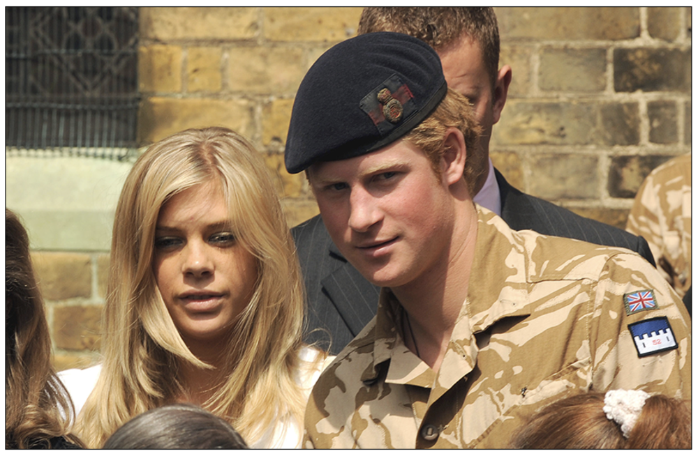 Youthful:  Prince Harry with Chelsy Davy leave a service of Remembrance in 2008 for those who have died in Afghanistan at the Army Garrison Church in Windsor (c) PA