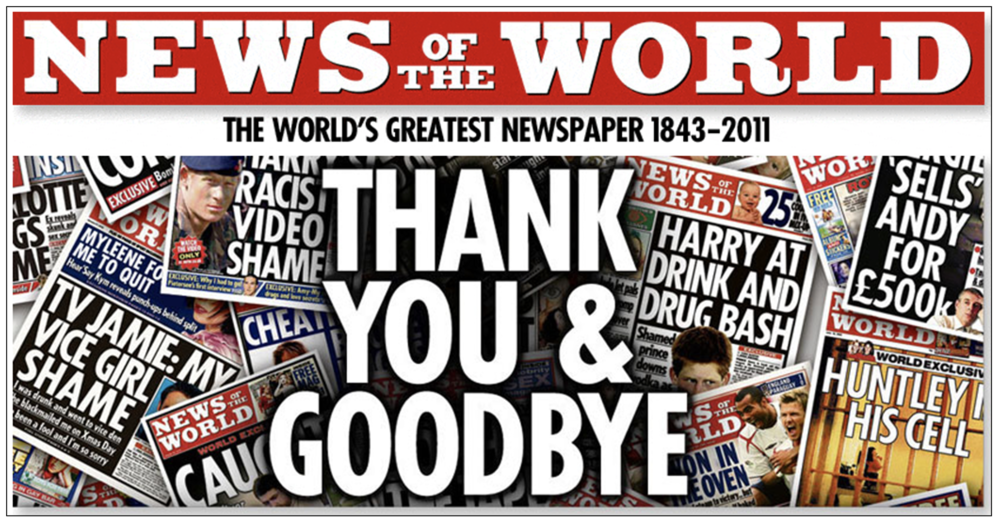 Shut down:  The newspaper Ms Brooks edited was closed in disgrace in 2011 after 168 years in print after it hacked the phone murdered schoolgirl Milly Dowler