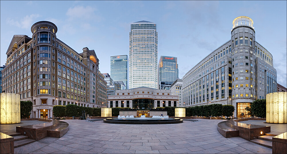 Mirror HQ : One Canada Square in Canary Wharf, London, where Mirror Group Newspapers is based