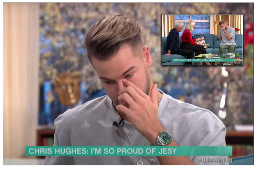 Earnest : Chris Hughes discussing mental health and the impact of bullying on Jesy Nelson on ITV's This Morning show