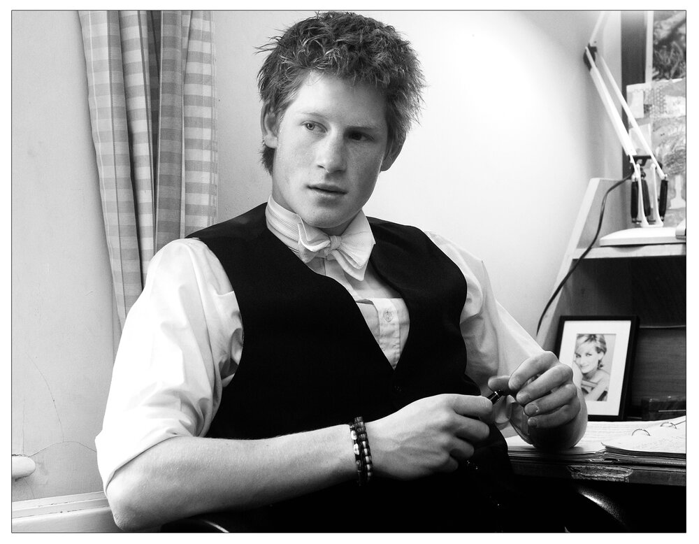Prince  Harry in his room at Eton College in 2003 - two years after Rebekah Wade set her black ops team on him (c) Kirsty Wigglesworth/PA Archive/PA Images