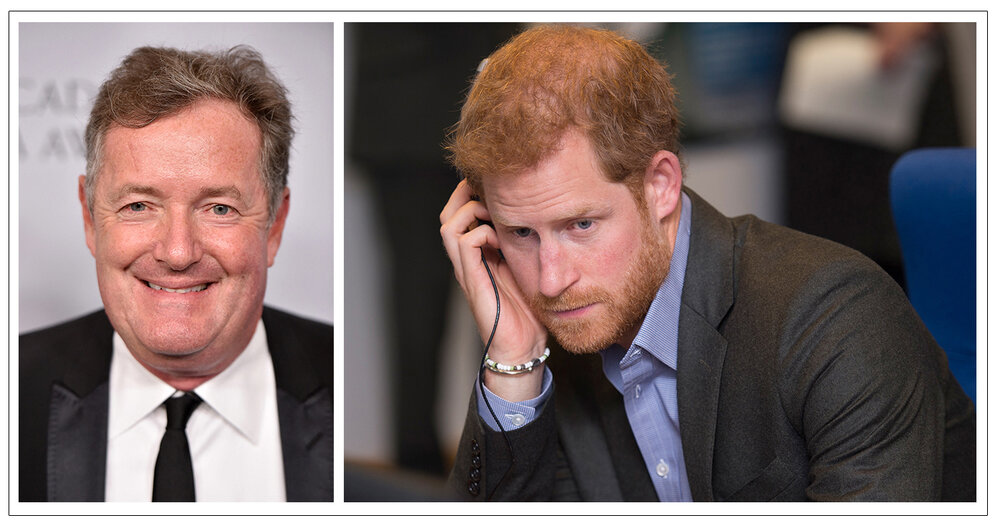 Allegations:  Piers Morgan (l) will be a main focus at the Mirror Group hacking trial. Prince Harry (r) is among 68 people currently suing Morgan's former employer (c) PA