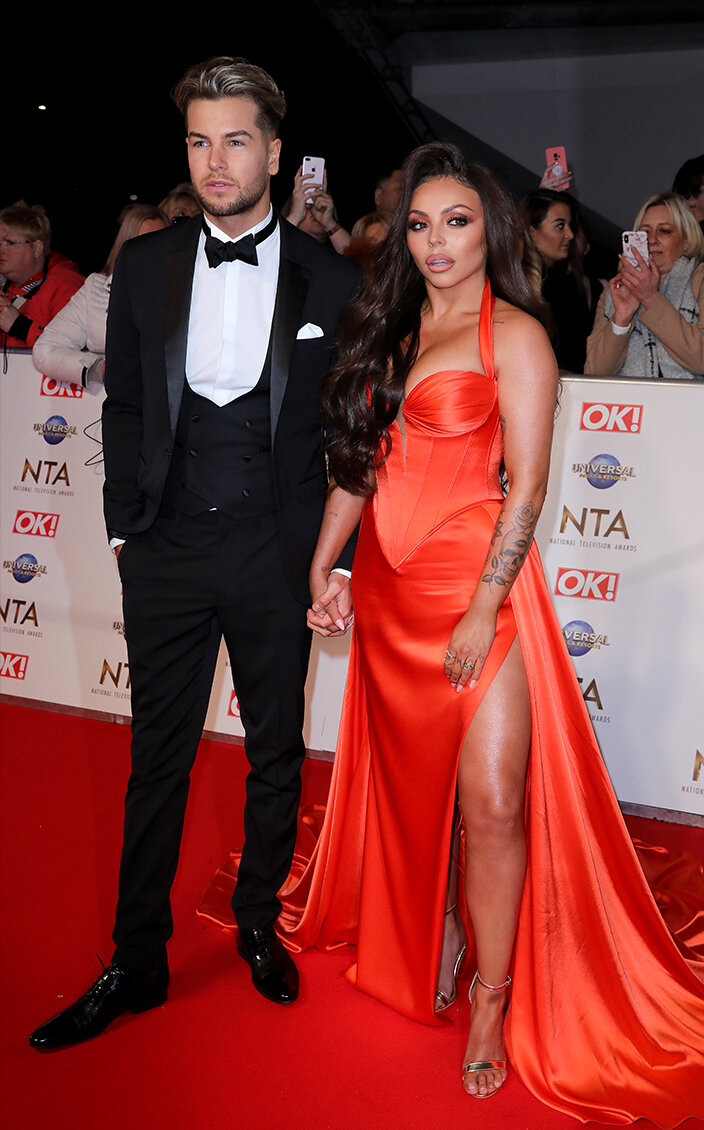 Tabloid focus:  Chris Hughes and Jesy Nelson attending the National Television Awards 2020 held at the O2 Arena, London (c) PA