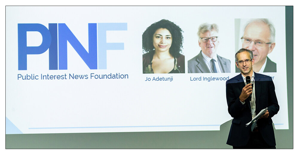 Vocal : PINF Executive Director Jonathan Heawood speaking at its conference last year (c) Tariq Sheikh