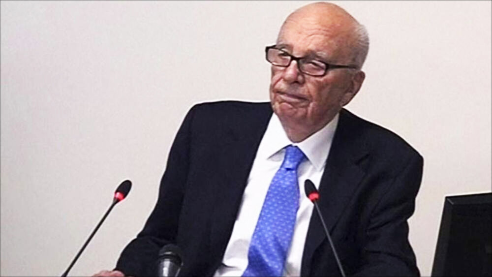 Rupert Murdoch at the Leveson Inquiry.