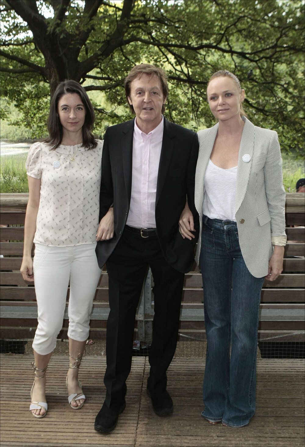 Paul McCartney with daughters Mary (L) and Stella (R) (PA)