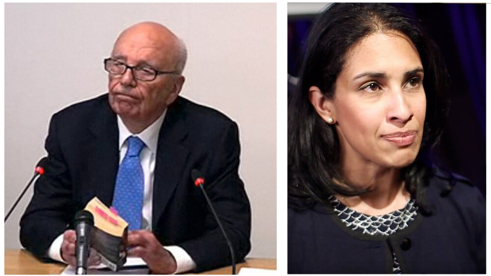 Rupert Murdoch at the Leveson Inquiry, and Pia Sarma, Editorial Legal Director and Deputy General Counsel, Times Newspapers