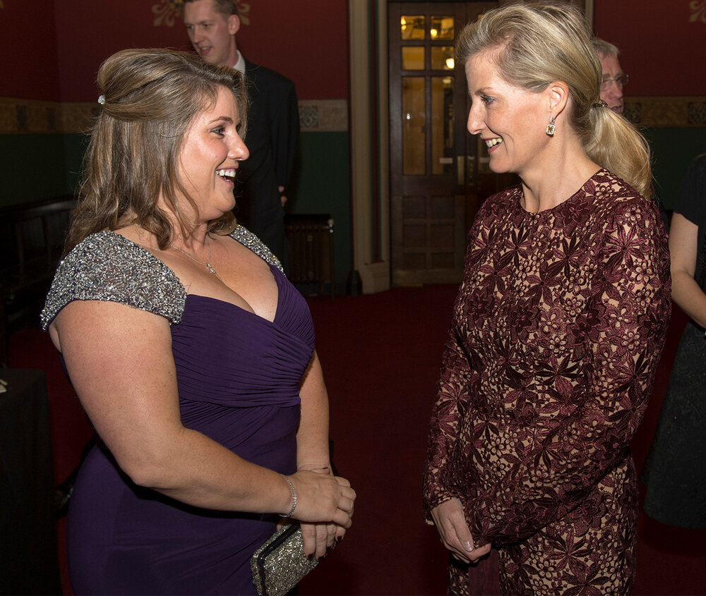 Royal audience:  The Countess of Wessex meets Rebecca English in October 2014 as she attends the 10th London Press Club Ball at the Royal Courts of Justice, central London (c) Arthur Edwards/The Sun/PA Archive/PA Image