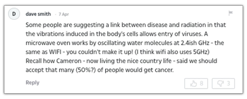 Published:  A comment on  The Sun's  coverage of 5g regarding viruses