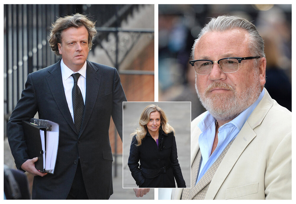 Litigation:  Former Mirror editor Richard Wallace (l), former Sunday Mirror editor Tina Weaver (c) are implicated, while actor Ray Winstone (r) is among the Claimants suing MGN (c) PA